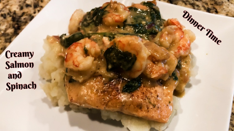 salmon and spinach